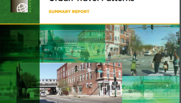 The Impact of Automated Transit, Pedestrian, and Bicycling Facilities on Urban Travel Patterns Report Cover