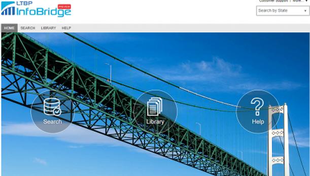 A screenshot of the LTBP InfoBridge program